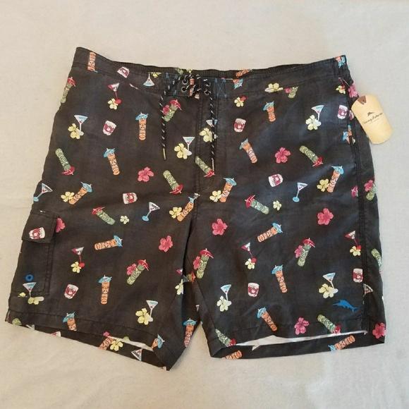 d66dc1b7a5e75 Tommy Bahama Swim | 2xb Black Tiki Mugs Shorts | Poshmark